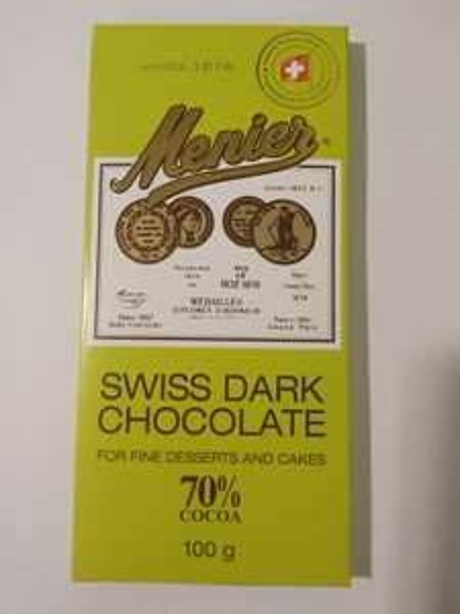 Menier 70% Swiss Dark Cooking/Baking Chocolate 59p at Home Bargains Kendal, Cumbria