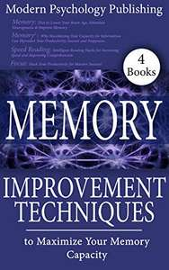 Memory Improvement Books Kindle Editions (Listed Below with Direct Links) - Free @ Amazon