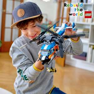 LEGO 31096 Creator 3-in-1 Twin Rotor Helicopter / Jet / Hovercraft £31.47 delivered at Amazon