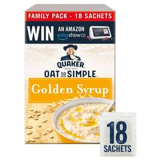 Quakers Porridge Sachets 18 X 36g for £2 (Various Flavours) @ Tesco