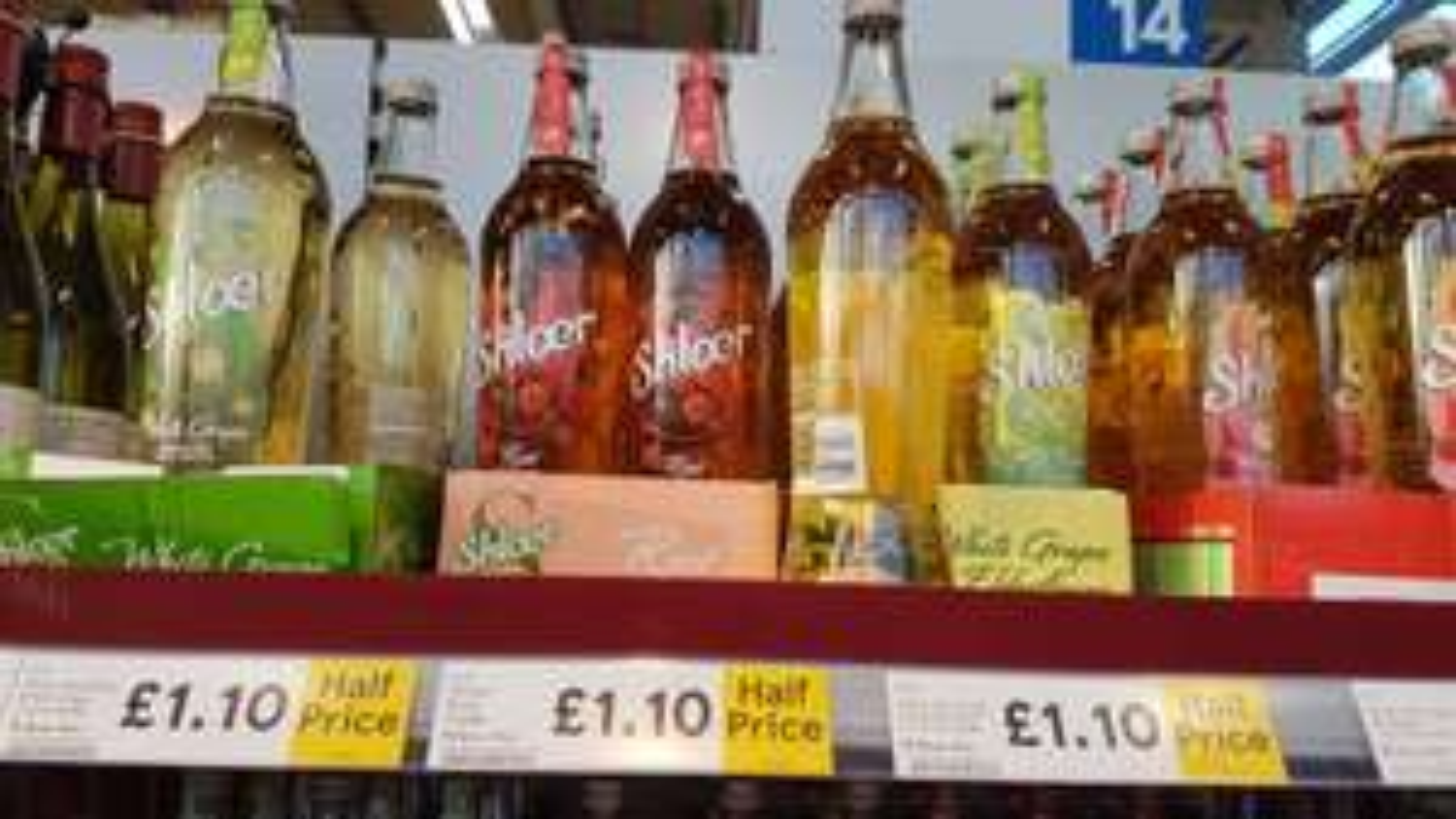 Shloer all flavours 750ml £1.10 @ Tesco