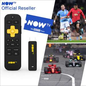 NOW TV Smart Stick with HD & Voice Search with 1 Month Sky Sports Pass £22.99 - Sold by Boss Deals and Fulfilled by Amazon