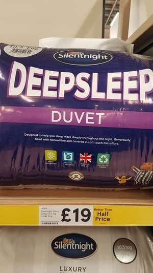 Silentnight 10.5 tog Deepsleep duvet £19 @ Tesco Carmarthen