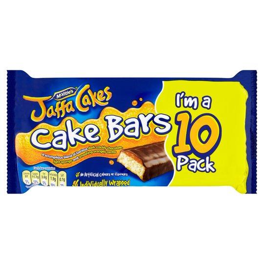 Mcvities Jaffa Cake Bars 10 Pack Half Price @ Tesco £1.25