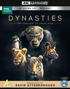 Dynasties 4K UHD Blu Ray 13.59 @ Amazon Prime / £16.58 Non Prime