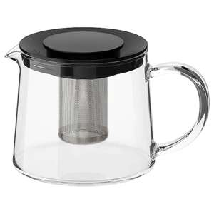RIKLIG Teapot, glass, 0.6 l now £4 at IKEA