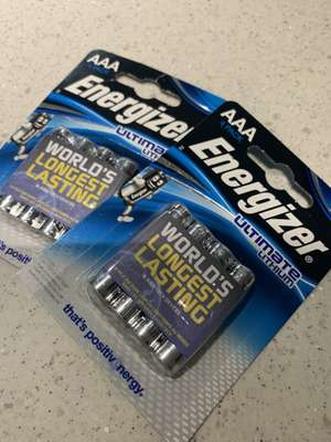 Energizer Lithium AA and AAA £2.50 for 4 pack @ Sainsburys