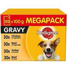 120 x 100g Pedigree Adult Wet Dog Food Pouches Mixed Selection in Gravy or Jelly - £25.99 delivered @ marspetcare_store eBay