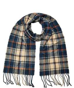 Blue And Rust Check Scarf £4 Burton - free store collection