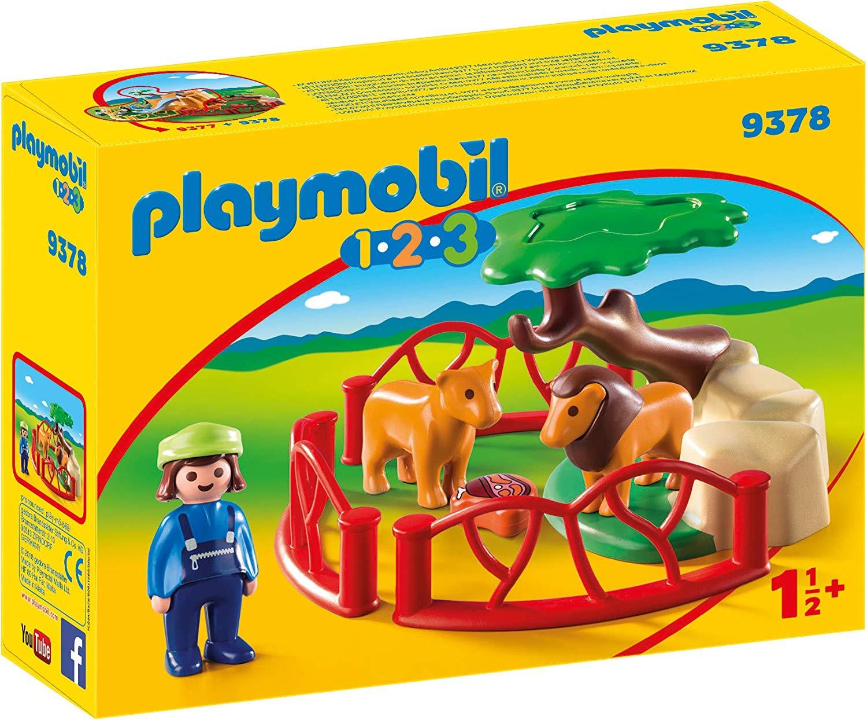 Playmobil 9378 1.2.3 Lion Enclosure with Cave £4.99 (Prime) / £9.48 (non Prime) at Amazon