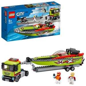 LEGO 60254 City Great Vehicles Race Boat Transporter Truck now £20 delivered at Amazon