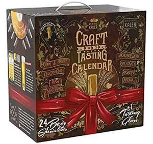 Kalea Craft BeerAdvent Calendar incl. Tasting Glass £29.99 Amazon sold by Rujia2018