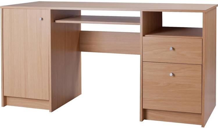 Calgary 2 Drawer Pedestal Office Desk -Oak Effect - £84 @ Argos