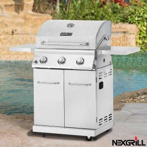 Nexgrill 3 Burner Stainless Steel Gas Barbecue + Cover - includes delivery £199.99 @ Costco