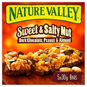 Nature Valley Sweet and Salty Nut Dark Chocolate (Pack of 25 bars) (5 packs of 5 bars) £7.50 (Prime) / £11.99 (non Prime) at Amazon