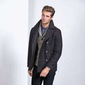 Next Wool Rich Peacoat Grey - Reduced to £32 with Free C&C