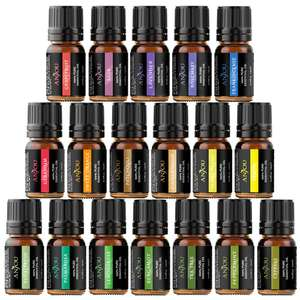 Anjou Essential Oils Set (18 x 5ml Oils) £9.99 with Prime / £13.98 non Prime @ Amazon / Sunvalleytek-UK