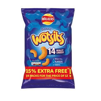 Walkers Wotsits Really Cheesy Snacks 14 x16.5g £2 at Iceland