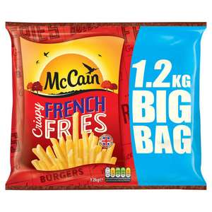 McCain Crispy French Fries 1.2kg £2 or 2 for £4 at Iceland