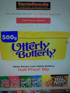 Utterly Butterly 500g - 50p at Farm Foods