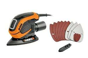 WORX WX647 55W D-Tail Sander, £19.99/ WORX WX648 65W D-Tail Sander with Accessories £29.99 at Worx/ebay