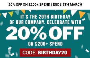 20% off £200+ spend at Garden Buildings Direct