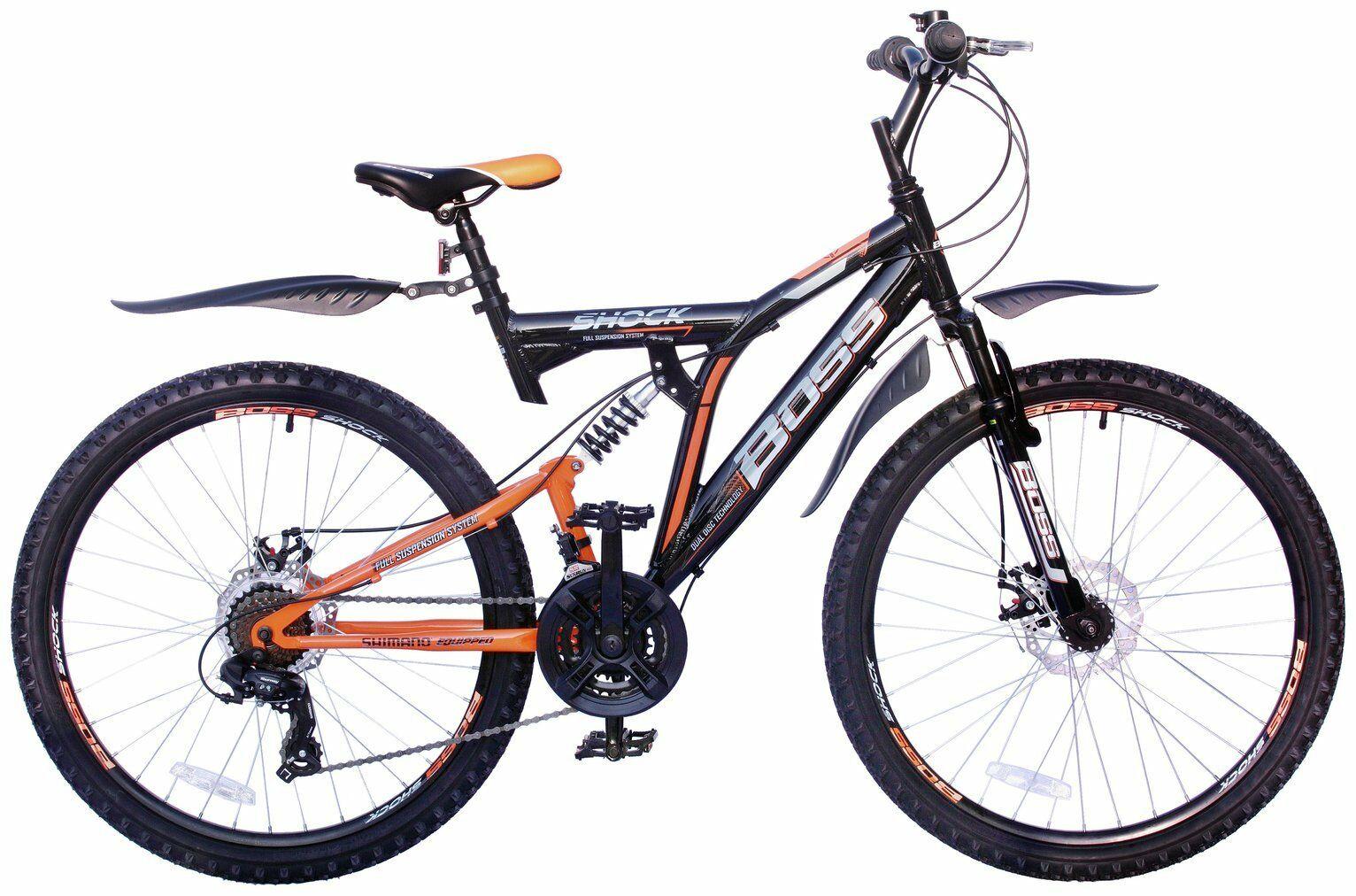 Boss Shock 26 Inch Dual Suspension Men's Mountain Bike - Orange & Black/ Boss Earthquake 26 Inch £142.49/ at Argos/ebay with code