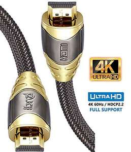 4K HDMI Cable 1M HDMI Lead - Ultra High-Speed 18Gbps £4.73 + £2.99 Non Prime Sold by Ibraonline and Fulfilled by Amazon