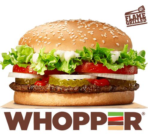 Whopper Wednesday - £1.99 Whopper @ Burger King via App