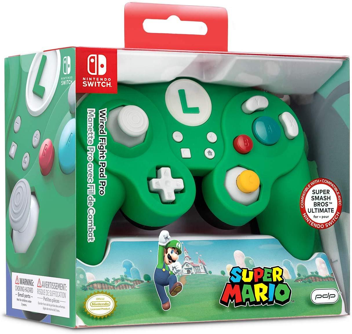 PDP Smash Fight Pad Pro Wired Controller - Luigi (Nintendo Switch) £19.97 (Prime) / £24.96 (Non Prime) @ Amazon