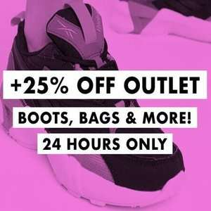 ASOS have got an extra 25% off Outlet Boots, Bags and more for 24 hours only @ ASOS