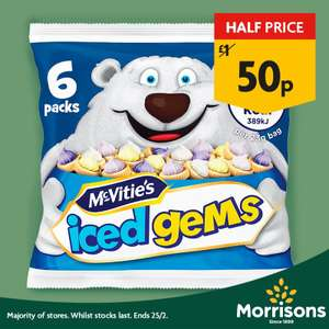 Iced Gems 50p at Morrisons