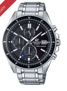 Casio Edifice Men's Solar Powered Steel Bracelet Watch EFS-S510D-1AVUEF £79 H Samuel