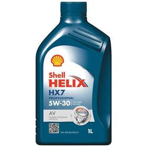 Shell Helix HX7 Professional AV 5W-30 1 Litre Semi Synthetic Engine oil (diesel) £2.40 @ EuroCarParts (collection)