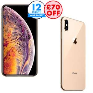 Refurbished Apple iPhone XS Discounts - £70 off At Basket - EG: Unlocked / 64GB / Good £404.99 - Other Options In Description @ Music Magpie