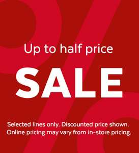 Half price sale has started online and instore Sainsburys / Argos clothing