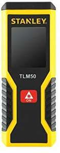 Stanley STHT1-77409 TLM 50 Laser Distance Measurer, Yellow, Small £24.54 at Amazon