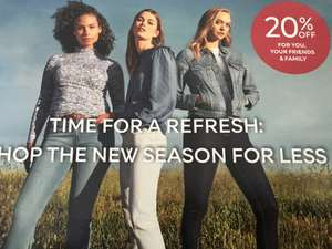20% off for friends & family On clothing, Beauty & Homeware @ M&S sparks members
