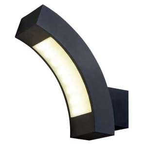 Blooma Ross Matt Charcoal Mains-powered LED Outdoor Curve Wall light - £5 @ B&Q (free click and collect)
