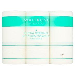Waitrose & partners Ultra Kitchen Towels White 6s £3.50