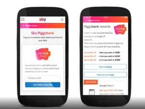 Sky Mobile Piggy Bank 20gb trade in £10 Sky Store voucher