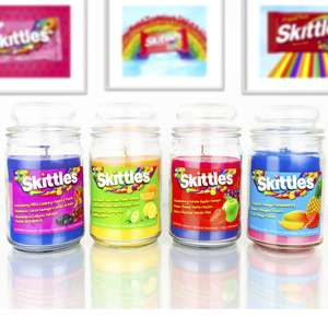 4 x Skittles Triple Layer Large 453g Jar Scented Candles £18 / £17.10 For New Customers Using Code @ Yankee Bundles