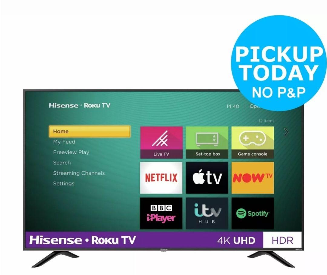 Hisense Roku TV 55 Inch R55B7120UK 4K Smart LED TV with HDR £329 @ Argos