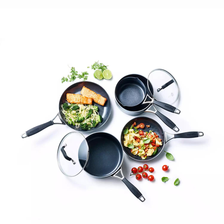 Green Pan-Black 5 Piece Non-Stick Aluminium 'York' Induction Cookware Set £60 @ Debenhams