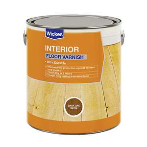 Wickes Floor Varnish - Dark Oak Satin 2.5L £8.00 @ Wickes in store