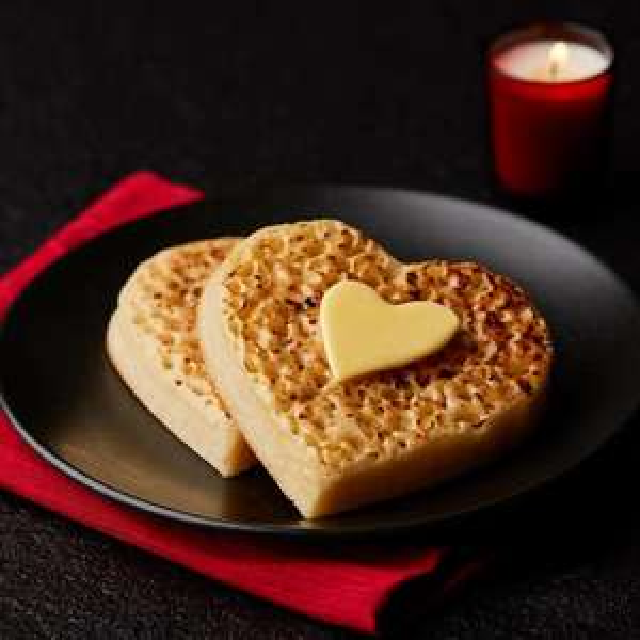 Morrisons Heart Crumpets 4pack 50p @ Morrisons