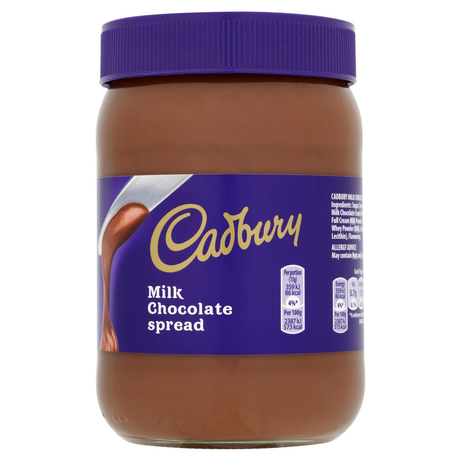 Cadbury Milk Chocolate Spread 700g £1.50 / Krüger Impress Swirl Chocolate Hazelnut Spread 700g £0.75 @ Iceland