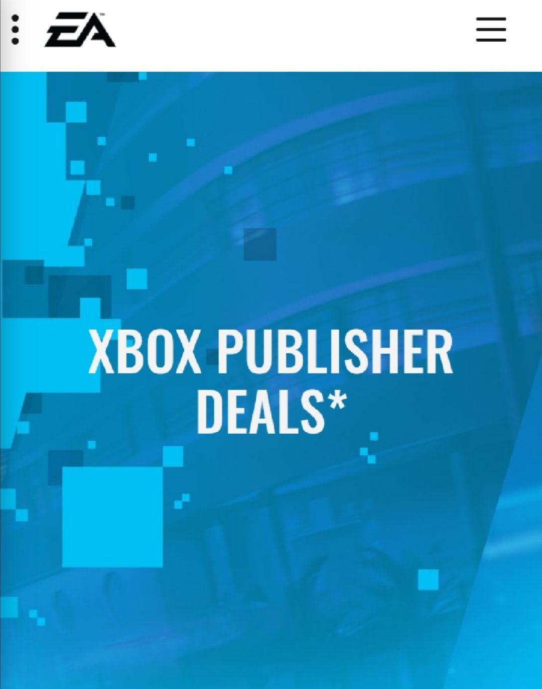 Xbox & Origin publisher sale at EA.com