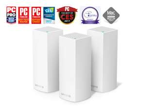 Linksys Velop Tri-Band Whole Home Mesh Wi-Fi Router 3 Pack at Ebuyer for £224.98