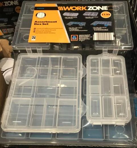 Aldi Work Zone Assortments box set £2.99 Shettleston, Glasgow